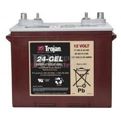 Batería Trojan 24-GEL 12 Voltios 85 Amperios C100