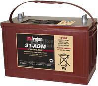 Batería para plataforma elevadora  AGM 12 Voltios 111 Amperios C100 Trojan 31-AGM