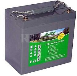 Conjunto de 2 baterías de GEL puro 12 Voltios 55 Amperios para Scooter HZY-EV12-55