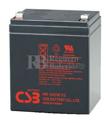 Batería AGM para Grúa Hospitalaria 12 Voltios 5 Amperios CSB HR1221W