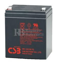 Bateria de Plomo para SAI HR1221W CSB 12 Voltios 21 Watios