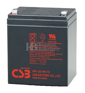 Batería SAI 12 Voltios 5 Amperios CSB HR1221W