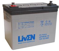 Bateria de Gel para Silla de Ruedas Eléctrica en 12 Voltios 32 Amperios LIVEN LVEG32-12