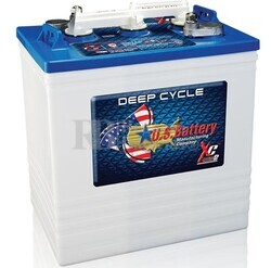 Bateria para instalaci�n solar 6 voltios 251 Amperios C20 260x181x302 mm US Battery US145XC2