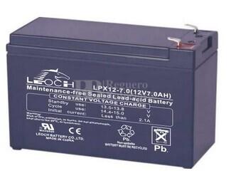 Bateria para SAI Leoch LPX12-7 12 Voltios 7,96 Amperios C20, 7,32 Amperios C10