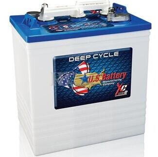 Bateria para apilador 6 voltios 251 Amperios C20 260x181x302 mm US Battery US145XC2
