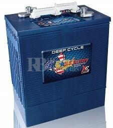 Bateria para apilador 6 voltios 340 Amperios C20 302x181x371 mm US Battery US305HCXC
