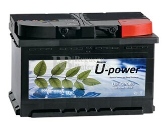 Batería Solar 12 Voltios 85 Amperios UP-SPO85 con mantenimiento U-Power