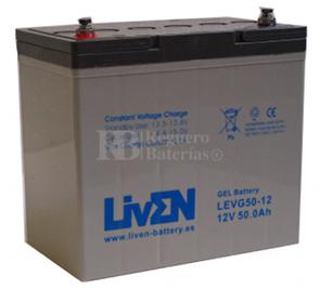 Bateria de Gel para Silla de Ruedas Eléctrica en 12 Voltios 50 Amperios LIVEN LEVG50-12