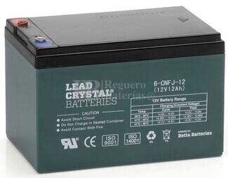 Bater�a de Plomo Crystal 12V 12Ah con 2000 a 3000 ciclos de carga especial para bicicletas el�ctricas