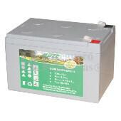 Bater�a para silla de ruedas el�ctricas CTM Homecare HS 120-235-250 en Gel 12 Voltios 12 Amperios HAZE EV12-12