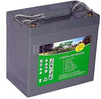 Batería para silla de ruedas DCC Shoprider Stream 888WS en Gel 12 Voltios 55 Amperios HAZE EV12-55