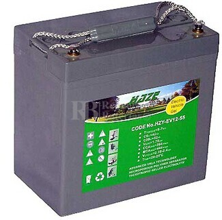 Bater�a para silla de ruedas Everest & Jennings Model 32 en Gel 12 Voltios 55 Amperios HAZE