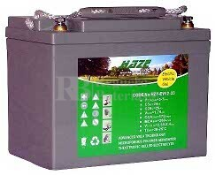Batería para silla de ruedas Leisure Lift Plus III en Gel 12 Voltios 33 Amperios HAZE EV12-33