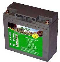 Batería para silla de ruedas eléctrica Merit Health Product Pionner1 SP232-SP23 en Gel 12 Voltios 18 Amperios HAZE