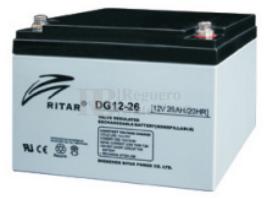 Bater�a de Gel para Carrito de Golf Ritar 12 Voltios 26 Amperios DG12-26