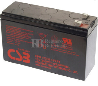 Batería SAI 12 Voltios 360 Watios CSB UPS12360-6F2-F1
