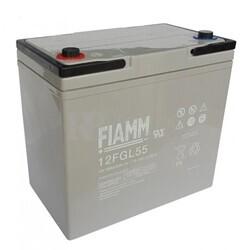 Batería AGM Cíclica para Silla de Ruedas Eléctrica en 12 Voltios 55 Amperios FIAMM 12FGL55