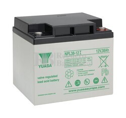 Batería para Silla de Ruedas 12 Voltios 38 Amperios NPL38-12