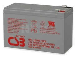 Bateria para SAI HRL1234WF2FR CSB Long Life 12 Voltios 9 Amperios