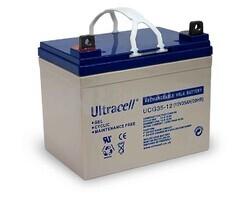 Batería de Gel  para Silla de Ruedas Electrica en 12 Voltios 35 Amperios ULTRACELL UCG35-12