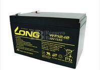 Batería AGM para Silla de Ruedas Eléctrica  en 12 Voltios 12 Amperios LONG  WP12-12
