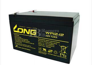 Bateria AGM para Silla de Ruedas Electrica  en 12 Voltios 12 Amperios LONG  WP12-12