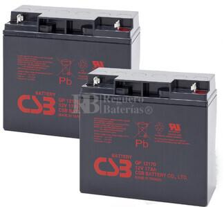 Baterías de sustitución para SAI APC SUA1000XLI - APC RBC7