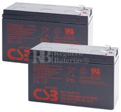 Baterías de sustitución para SAI APC SUA750R2X338 - APC RBC22