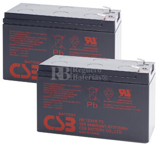 Baterías de sustitución para SAI APC BACK UPS RS 1300 (INC. MODELO LCD) - APC RBC32