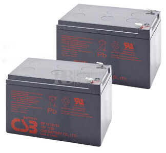 Baterías de sustitución para SAI APC BACK UPS PRO 1000 - APC RBC6