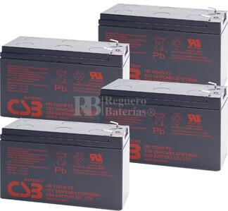 Baterías de sustitución para SAI APC SMART UPS 1000VA RM 2U - APC RBC23
