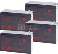 Baterías de sustitución para SAI APC SU1000RM24