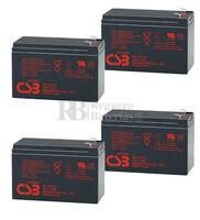 Baterías de sustitución para SAI APC SUA1500RMUS - APC RBC24