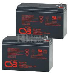 Baterías de sustitución para SAI APC SU700R2BX120 - APC RBC22