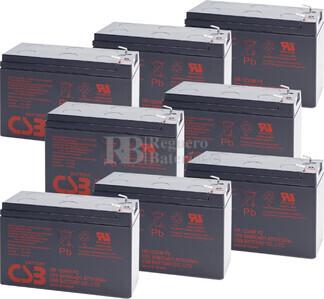 Baterías de sustitución para SAI APC SU5000RMT5UXFMR - APC RBC12