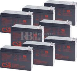 Baterías de sustitución para SAI APC DL5000RMT5U - APC RBC12