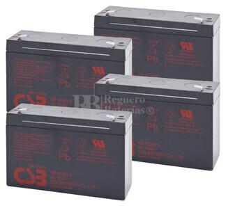 Baterías de sustitución para SAI APC AP800RT - APC RBC-AP3