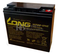 Bateria AGM para Carrito de Golf 12 Voltios 22 Amperios LONG  WP22-12NE