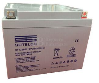 Batería para Carrito de Golf AGM 12 Voltios 26 Amperios ST12260