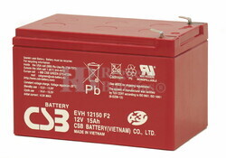 Bateria AGM para Patines Electricos 12 Voltios 15 Amperios Alta Descarga