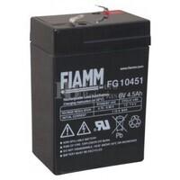 Batería para triciclo, moto, coche de niños 6 Voltios 4,5 Amperios FIAMM FG10451