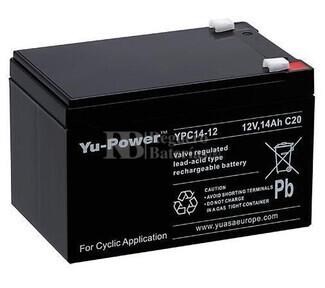 Bateria AGM Ciclica en 12 Voltios 14 Amperios para Bicicletas Electricas