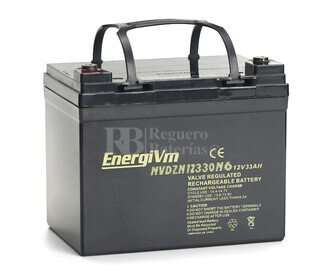 Bateria AGM Ciclica para Silla de Ruedas Eléctrica en 12 Voltios 33 Amperios MVDZM12330F11