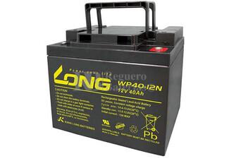 Bateria AGM Ciclica para Silla de Ruedas Eléctrica en 12 Voltios 40 Amperios LONG WP40-12N