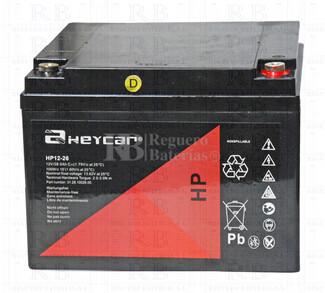 Bateria AGM Ciclica para Silla de Ruedas Eléctrica en 12 Voltios 26 Amperios HEYCAR HP12-26