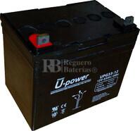 Bateria GEL Ciclica para Silla de Ruedas Eléctrica en 12 Voltios 33 Amperios UPG33-12