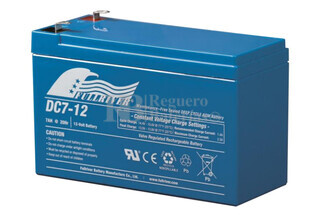 Bateria AGM para Patines Electricos 12 Voltios 7 Amperios Alta Descarga