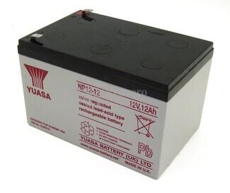 Batería para Patines Eléctricos 12 Voltios 12 Amperios YUASA NP12-12Y