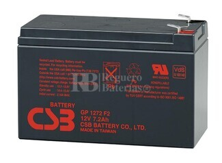 Batería para Patines Eléctricos 12 Voltios 7,2 Amperios CSB GP1272